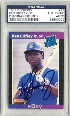 Ken Griffey Jr 1989 Donruss #33 Autographed Signed RC PSA DNA Slabbed HOF CFS
