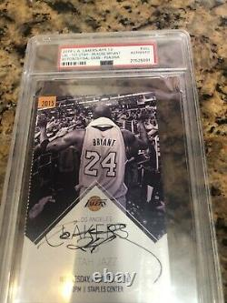 Kobe Bryant Autographed Last Game Ticket. Psa Dna Slabbed. Priced To Sell
