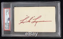 Link Lyman Signed Index Card Autograph PSA/DNA Chi Bears Football HOF Slabbed