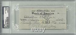 Lou Costello Signed Authentic Autographed Check Slabbed PSA/DNA #83463951
