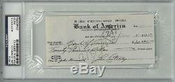 Lou Costello Signed Authentic Autographed Check Slabbed PSA/DNA #83463953