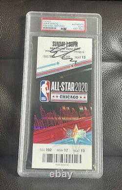 Luka Doncic Signed 2020 NBA All Star Game Ticket Stub Psa/Dna Slabbed 1st Asg