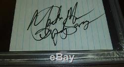 Macho Man Randy Savage Signed Cut Index Card PSA/DNA Slab Autograph WWE WWF WCW