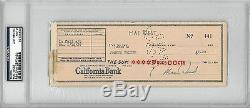 Mae West Signed Authentic Cancelled Check Slabbed PSA/DNA #83436403