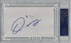 Manny Pacquiao & Oscar De La Hoya Dual SIgned 3x5 Index Card PSA/DNA Slabbed