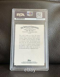 Manny Pacquiao Signed 2011 Topps Allen & Ginter Rookie Card #262 Psa/Dna Slabbed