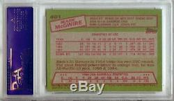 Mark McGwire 1985 Topps Signed Auto RC Rookie Card PSA/DNA Slabbed A's #401