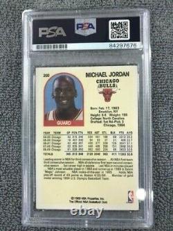 Michael Jordan Authentic Signed Auto Autographed 1989 Hoops card PSA/DNA Slabbed