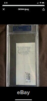 Michael Jordan Signed 1989 Personal Check! PSA/ DNA Authenticated & Slabbed