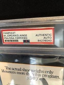 Michael Jordan Signed Pamphlet PSA/ DNA Authenticated & Slabbed Unique Item