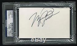 Michael Jordan signed autograph auto 3x5 index card Rookie Year PSA/DNA Slabbed