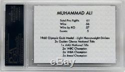 Muhammad Ali Signed Autographed Custom Card Psa/dna Graded Mint 9 Slabbed