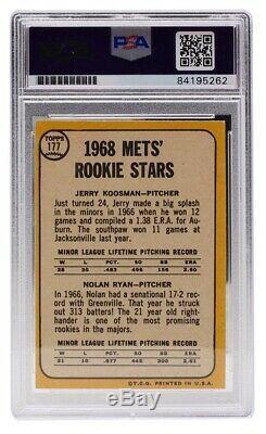 Nolan Ryan New York Mets Signed Slabbed Topps Rookie Card Insc GEM MT 10 PSA/DNA
