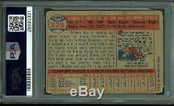 Orioles Brooks Robinson Signed 1957 Topps #328 Rookie Auto Card PSA/DNA Slabbed