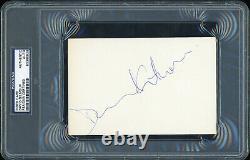 PINK FLOYD David Gilmour Signed 4 x 6 Index Card RARE PSA/DNA Slabbed