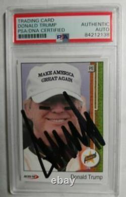PSA/DNA President DONALD TRUMP Autographed TRADING CARD Rookie Novelty/Slabbed