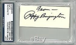 Pappy Boyington Signed Cut Signature Psa Dna Slabbed 84098626 (d)