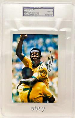 Pele Brazil World Cup Autographed 4x6 Photo Signed PSA/DNA Slabbed Graded 9 Mint