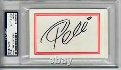 Pele Soccer Legend signed Bookplate PSA/DNA Slabbed autographed