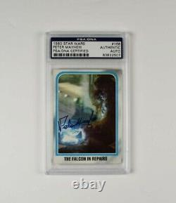 Peter Mayhew Chewbacca Star Wars Signed Auto Trading Card PSA/DNA Slabbed COA