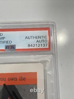 President Donald Trump Signed The Game Playing Card Slabbed, Psa/dna Rare