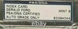 President Gerald Ford Signed Index Card Psa/dna Slabbed Autograph