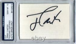 President Jimmy Carter cut signature PSA/DNA slab autograph grade PSA 10 POTUS