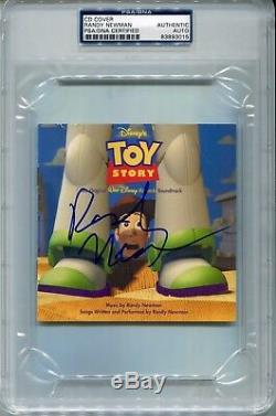Randy Newman Autographed Disney Toy Story Soundtrack Psa/dna Slabbed CD Cover