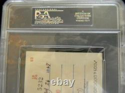 Rare Hank Aaron Signed/ Auto Check 1967 Topps Chewing Gum Slabbed Psa/dna Nice