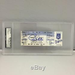 Rare Paul Molitor Signed 3,000 Hit Game Ticket 9-16-1996 PSA DNA Slabbed Auto