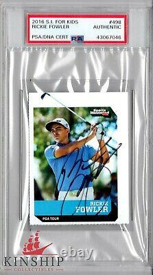 Rickie Fowler signed 2016 SI Rookie Card RC PSA DNA Slabbed Auto Masters C295
