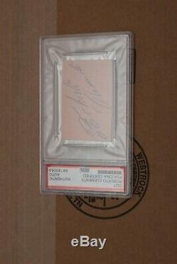 Roberto Clemente Cut Autograph Psa/dna Slabbed
