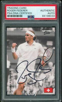 Roger Federer Authentic Signed 2003 Netpro #S2 Trading Card PSA/DNA Slabbed