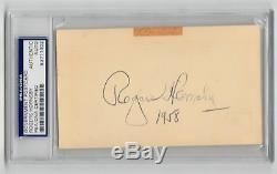 Rogers Hornsby Cardinals HOF Vintage Signed GPC autograph PSA/DNA Slab