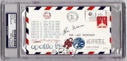 Ron Evans signed Apollo 17 FDC Cachet PSA/DNA Slabbed auto RARE d 90