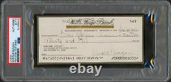 Ronald Reagan Signed 2.75x6 Personal Check Dated July 4, 1995 PSA/DNA Slabbed