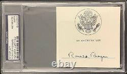 Ronald Reagan Signed Bookplate 40th US President & Actor Autograph PSA/DNA Slab