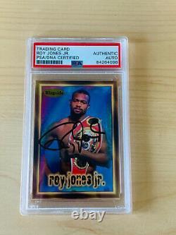 Roy Jones Jr Signed Boxing Card Psa/dna Capsulated Slabbed Certified #2