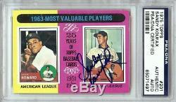 Sandy Koufax 1975 Topps Signed Autographed PSA/DNA Slabbed Dodgers #201