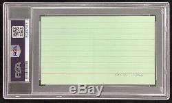 Sandy Koufax Signed Index Card Autograph PSA/DNA Dodgers Baseball HOF Slabbed