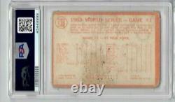 Sandy Koufax signed 1964 Topps Trading Card PSA DNA Slabbed Dodgers HOF C458