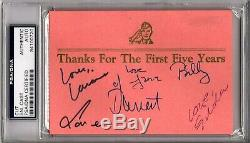 Saturday Night Live Cast (6) with Bill Murray Signed Autographed Cut PSA/DNA & JSA