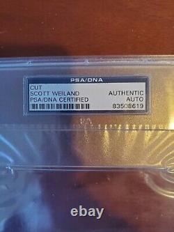 Scott Weiland STONE TEMPLE PILOTS STP Signed Slab Cut Autographed PSA/DNA Auth