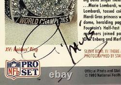 Signed Al Davis SB XV Pro Set Card HOF Oakland Raiders Owner Slabbed PSA/DNA