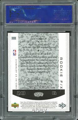 Spurs Manu Ginobili Signed 2002 SP #172 Rookie Card Graded 10! PSA/DNA Slabbed