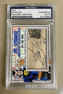 Stan Lee Doctor Strange Marvel Signed 1/1 Custom Cut Auto Card Psa/dna Slabbed
