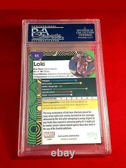 Stan Lee Signed 2013 Marvel Autograph Certified Slabbed Loki Card PSA/DNA