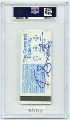 Stephen Curry Signed Ticket Stub PSA/DNA Warriors Autographed Slabbed
