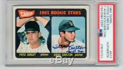 Steve Carlton signed 1965 Topps rookie card #477 PSA/DNA Slab autographed
