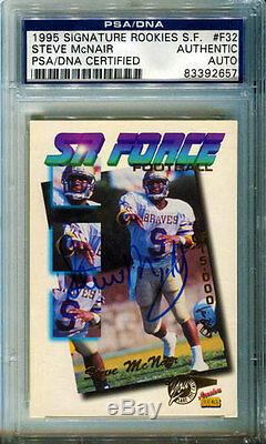 Steve McNair Autographed 1995 Signature Rookies PSA/DNA Slabbed Card